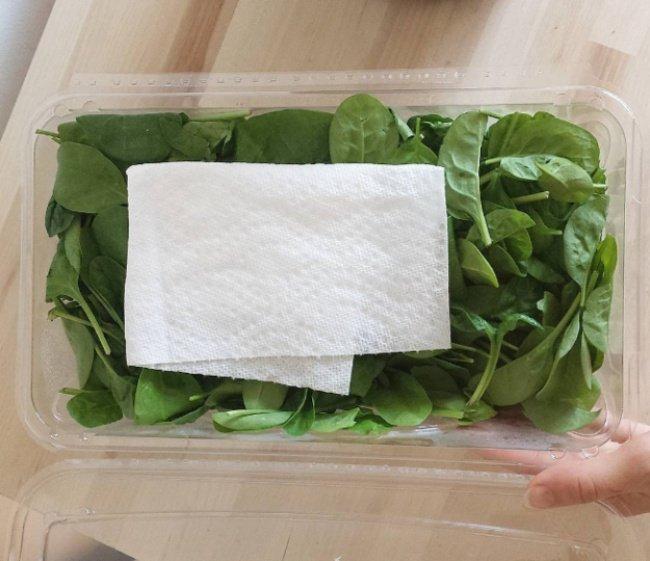 бумажная салфетка в зелени