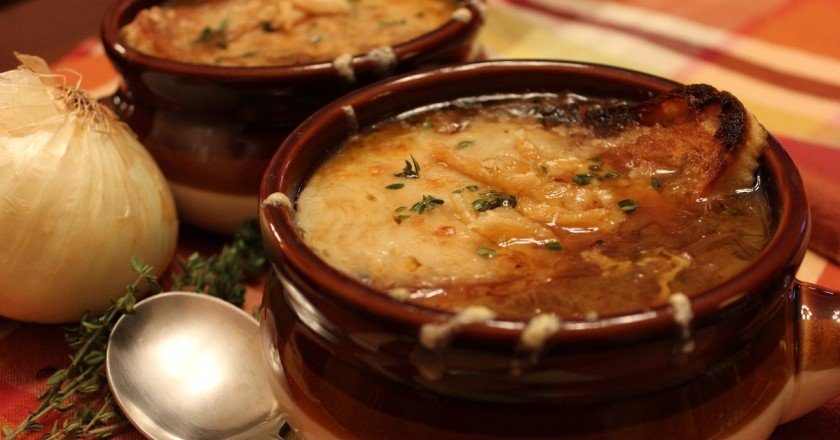 французский луковый суп фото