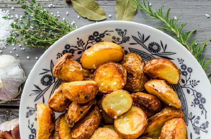 7 постных блюд, картофель по-деревенски