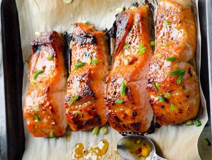 7 постных блюд, лосось по-тайски