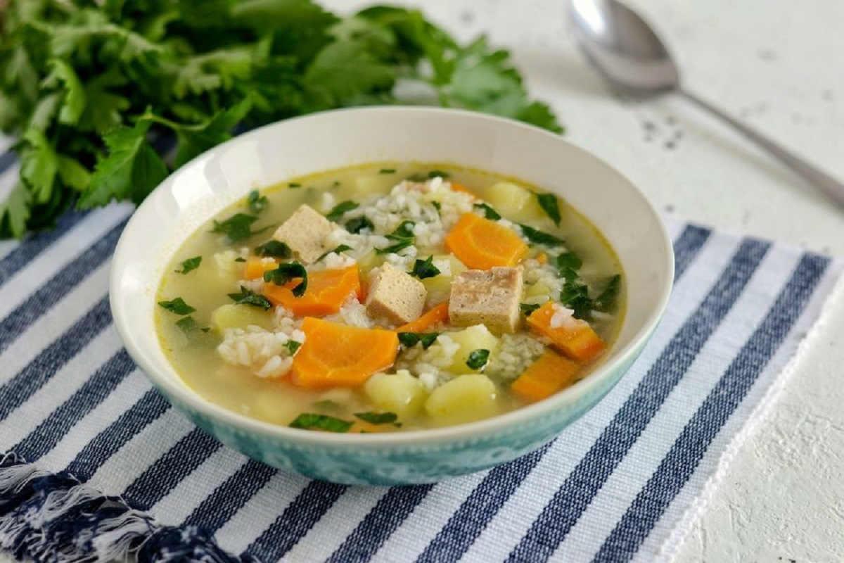 рисовый суп с картошкой