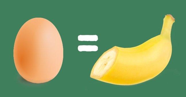 заменить яйца