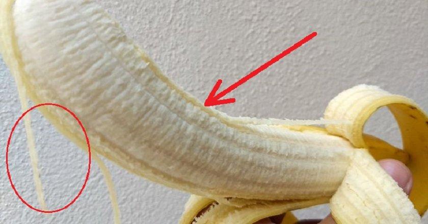 белые волокна под кожурой банана