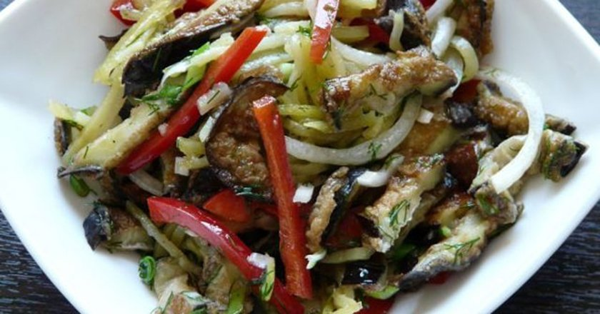 Фото салаты из баклажан