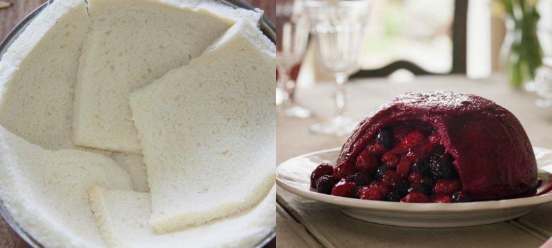 хлебный пудинг с ягодами
