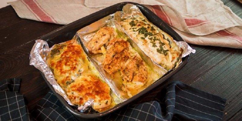 как приготовить 3 блюда на одном противне