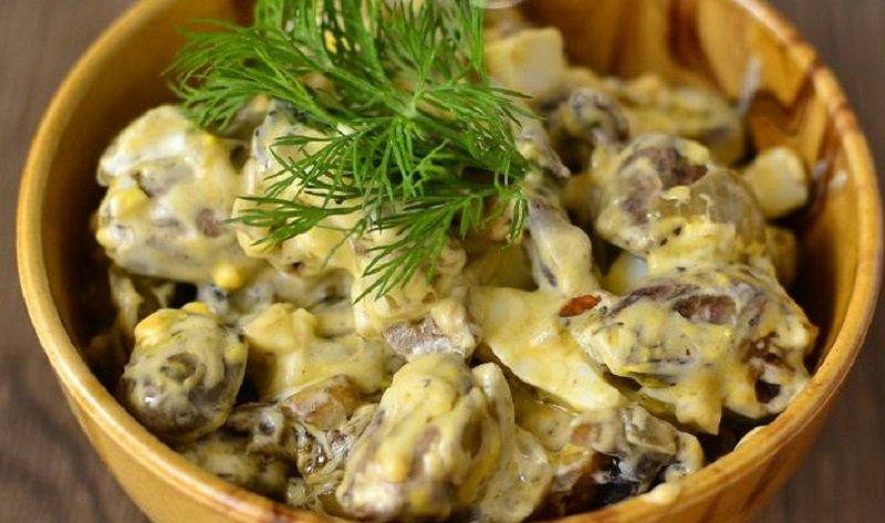 рецепт салата с мясом