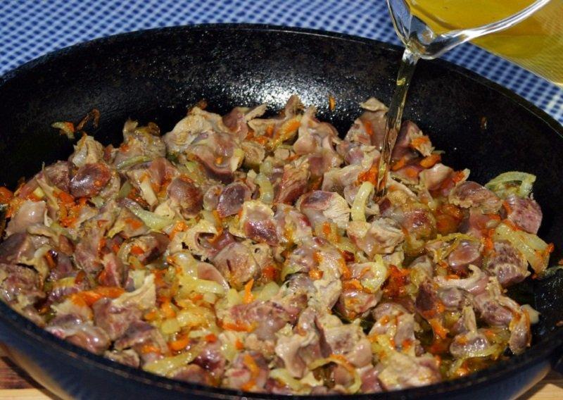 рецепт куриных желудков