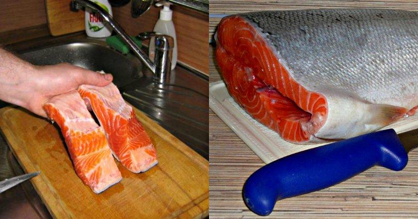 как разделать лосося
