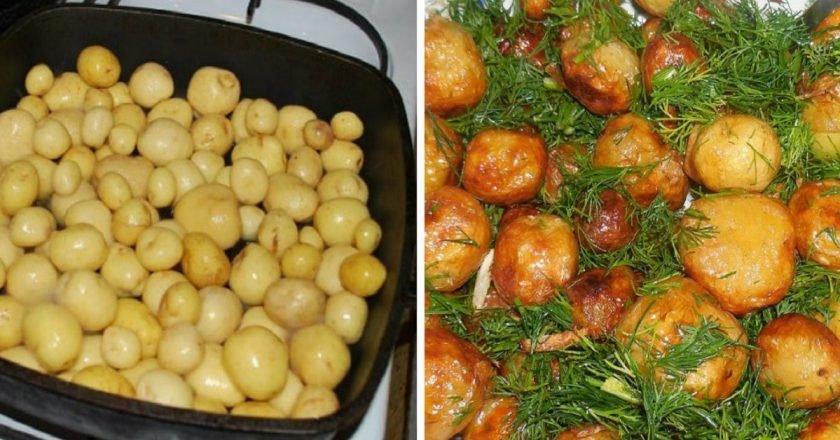 блюда измолодого картофеля
