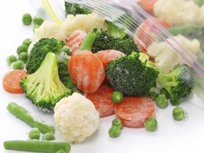 Блюда с замороженными овощами