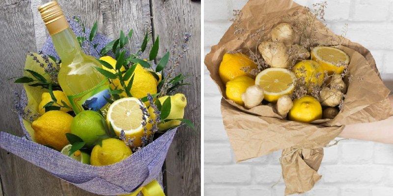 букет из лимонов