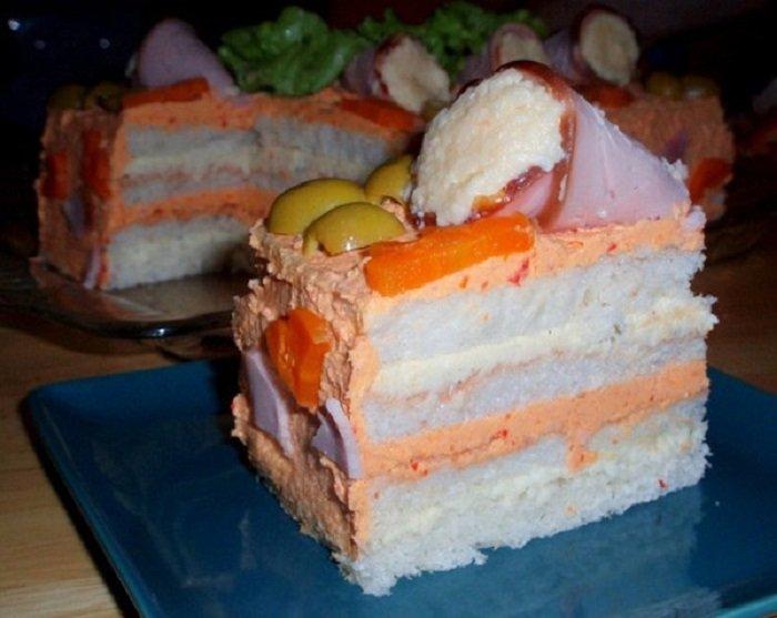 Бутербродные торты