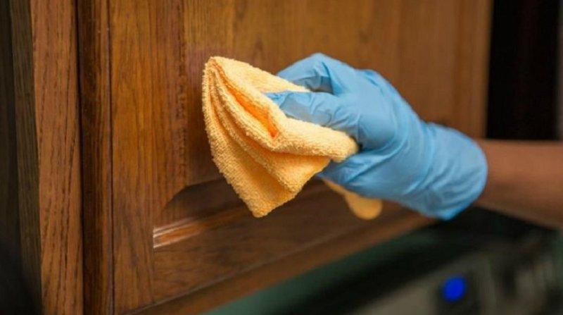 как отмыть дверцы шкафчиков