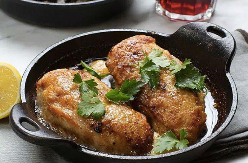 курица с коричневым маслом
