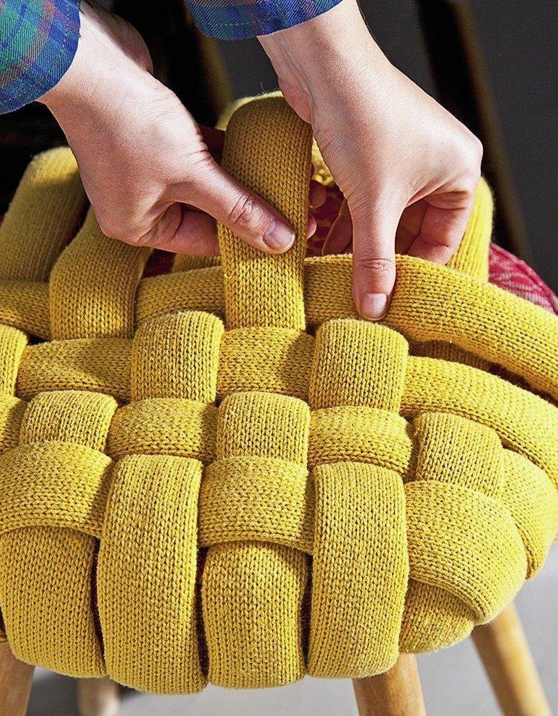 плетение сидушки