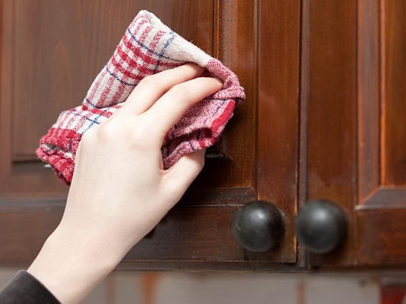как мыть кухонные шкафчики