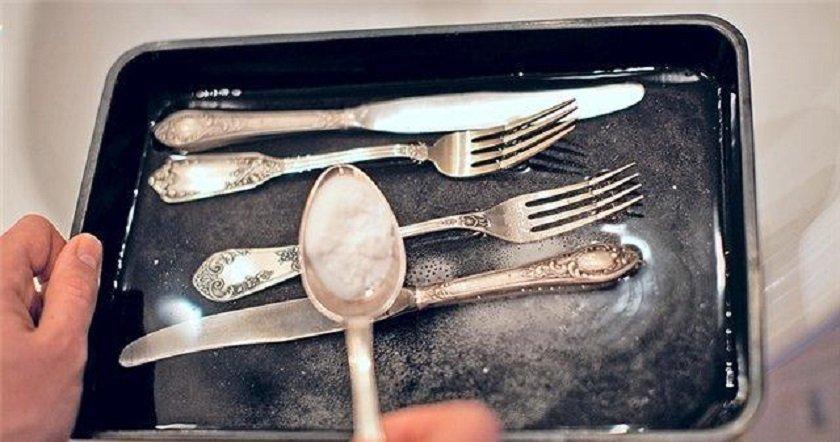 как очистить серебро