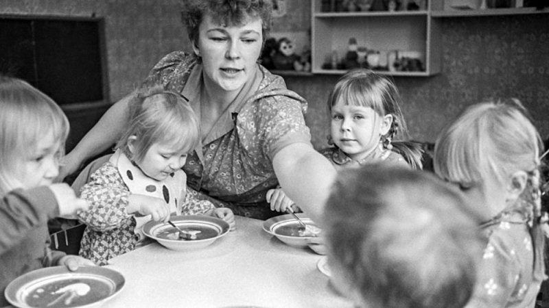 обед в детском саду ссср