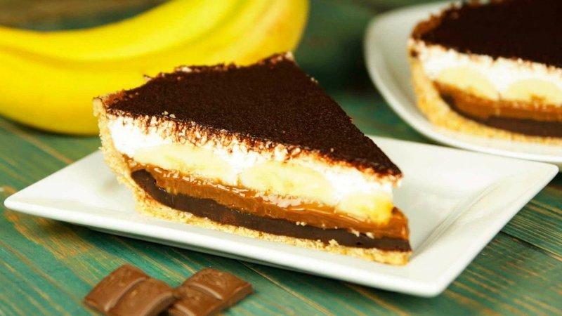 банановый чизкейк с шоколадом