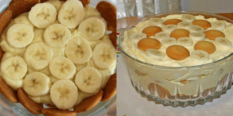 американский банановый пудинг