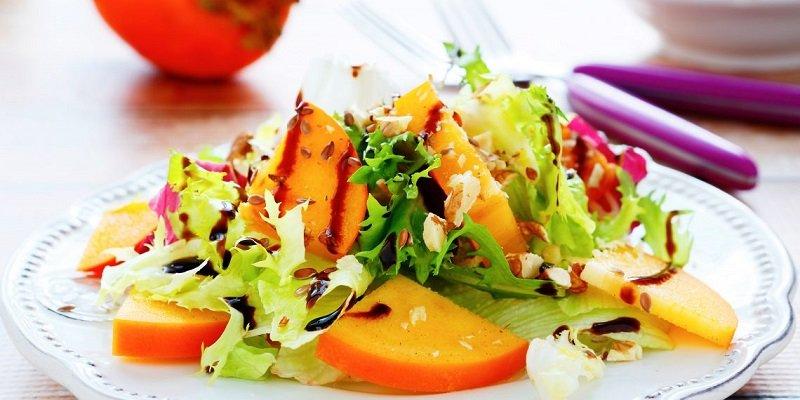 салат с хурмой изображение