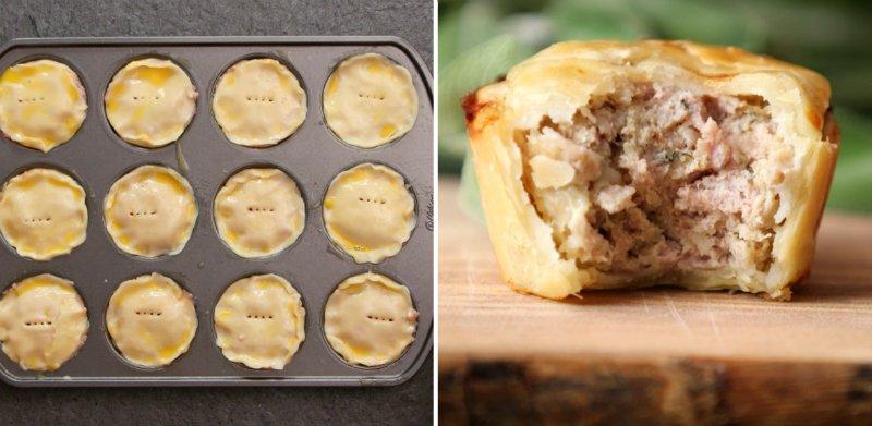 пирожки с мясом в формах для кексов