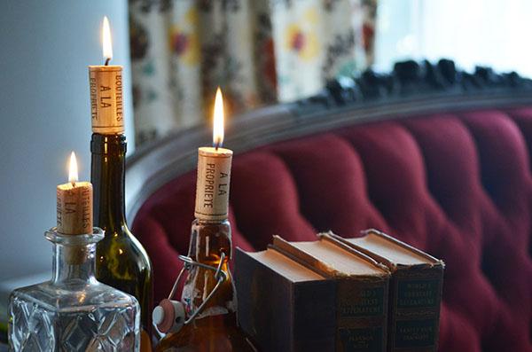 свечи из корков