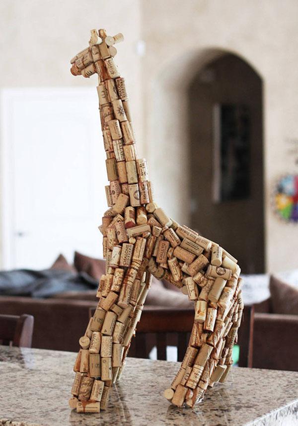 Из чего сделать жирафа своими руками для сада