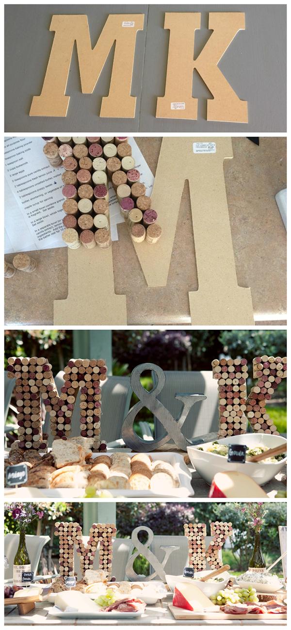 буквы из винных пробок