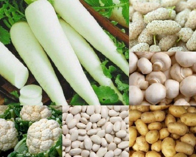 biały kolor warzyw