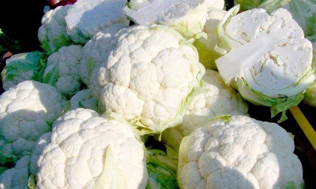 белый цвет овощей
