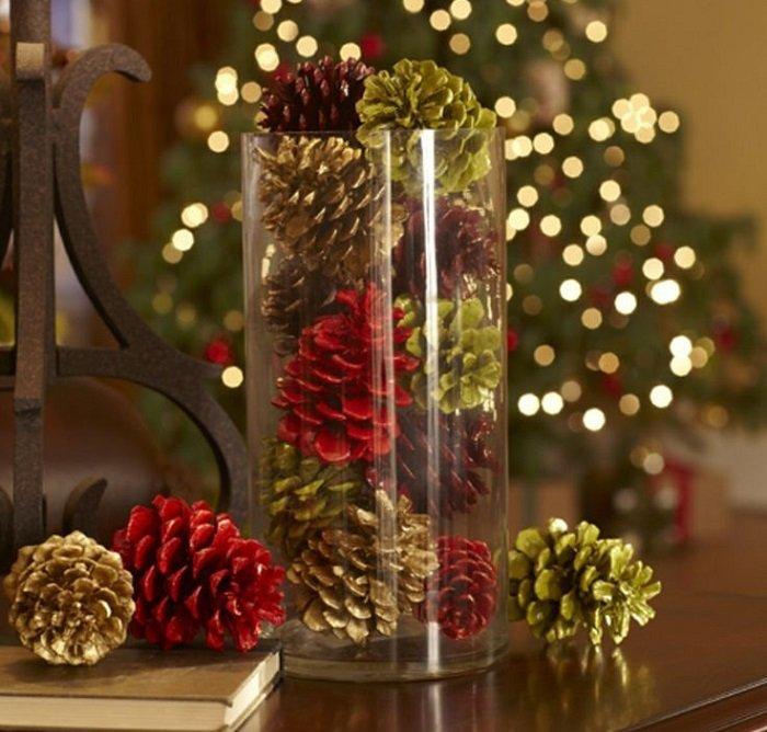 Декоративные украшения к новому году своими руками