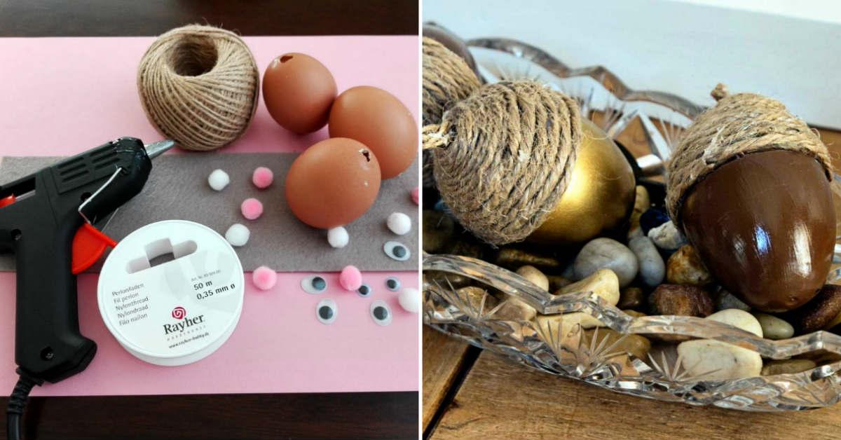 декор яиц из бечевки