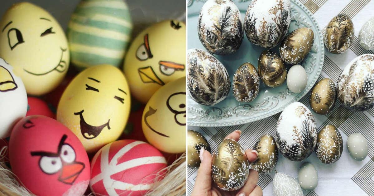 оригинальный декор яиц
