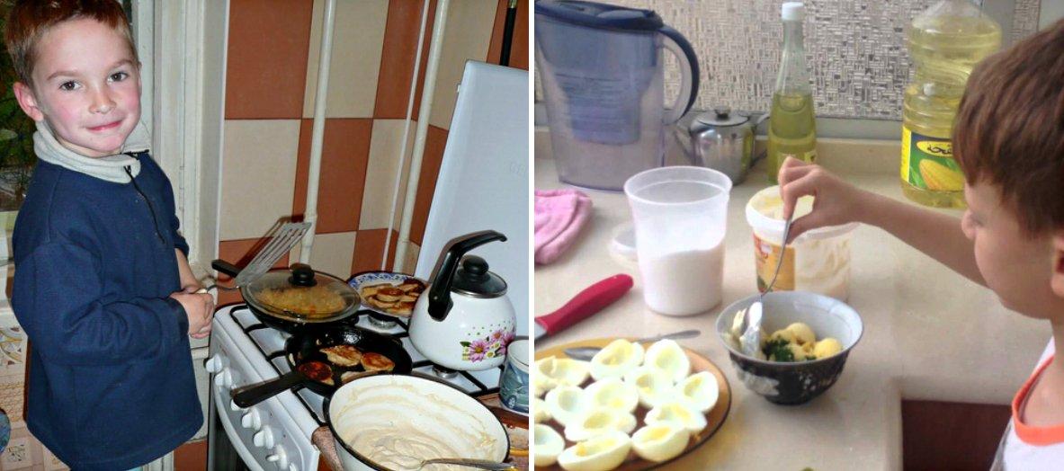 Ютуб дети готовят завтрак
