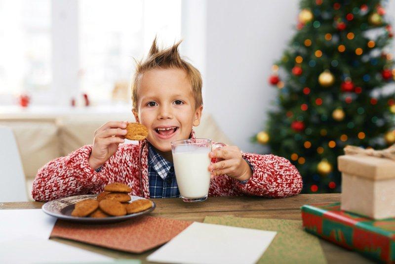 świąteczny stolik dla dzieci