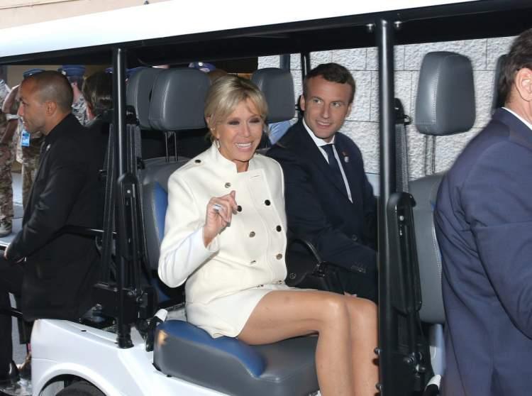 супруга президента Макрона
