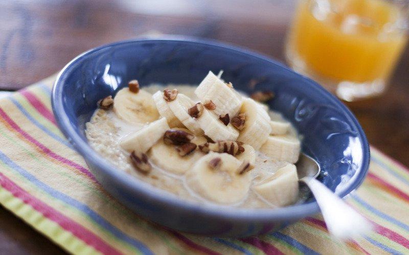 овсянка с бананом