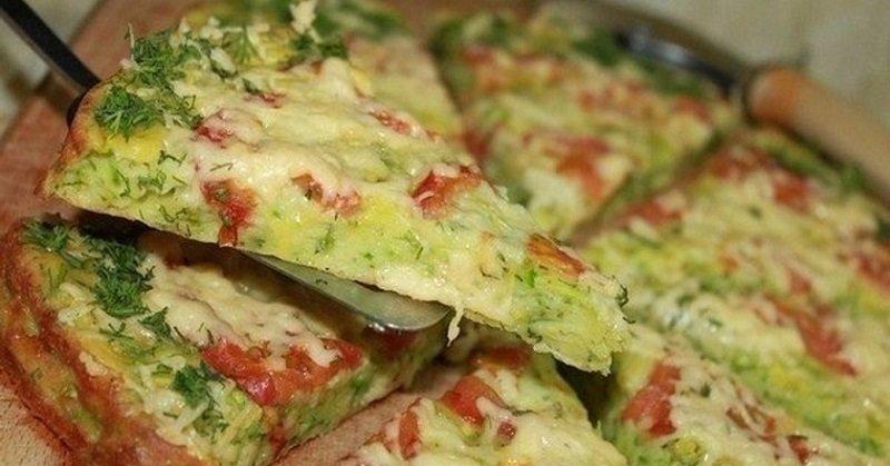 диетическая пицца из кабачков фото