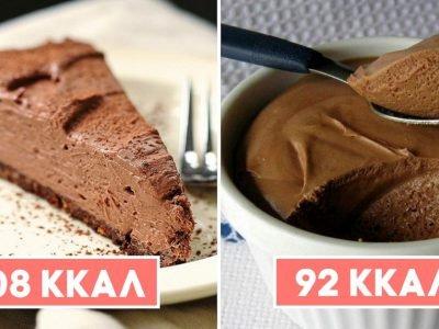Диетические десерты из шоколада