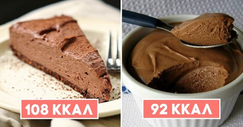 низкокалорийные десерты из шоколада