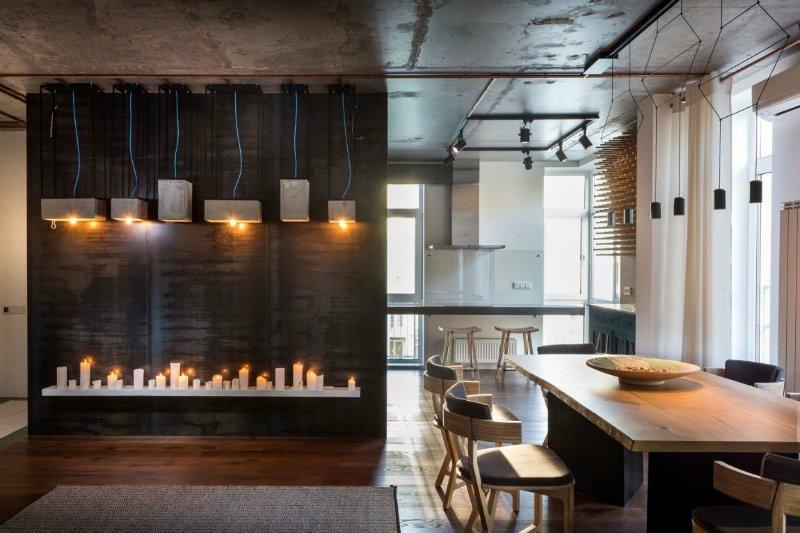 Студия дизайна лофт кухни