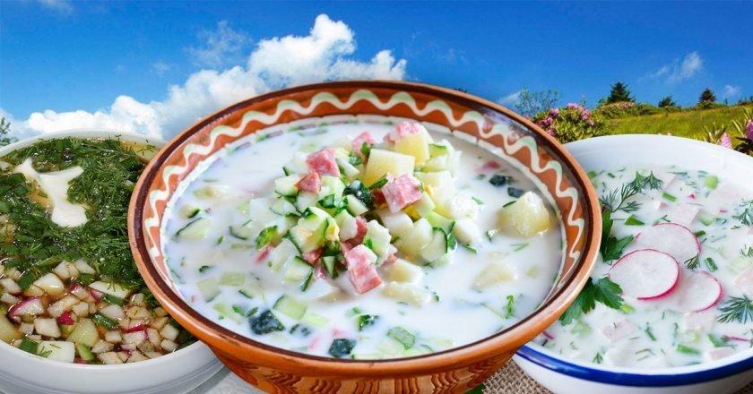 Домашняя окрошка: 7 рецептов холодных супов