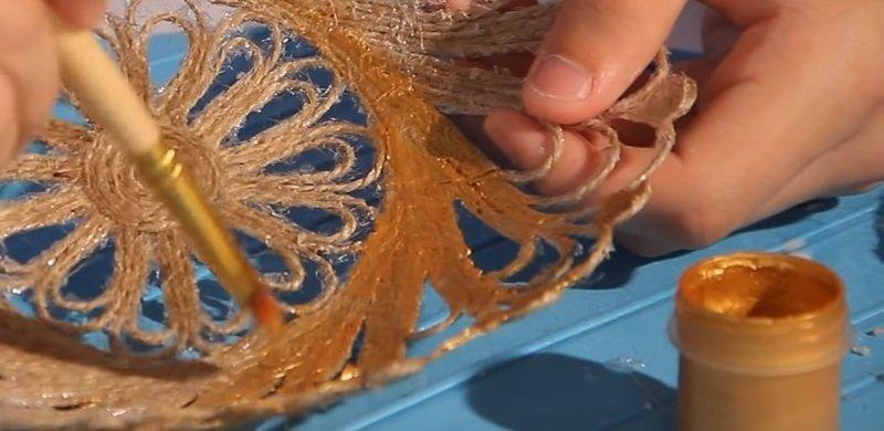 окрашивание тарелки