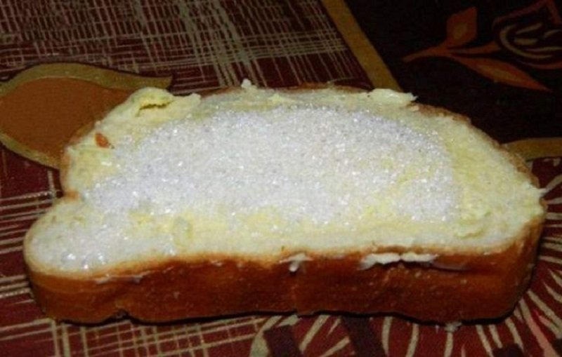 хлеб с сахаром