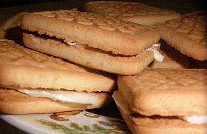 печенье с топленым молоком