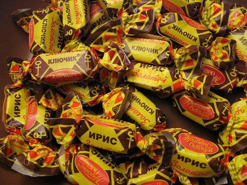 конфеты ириски