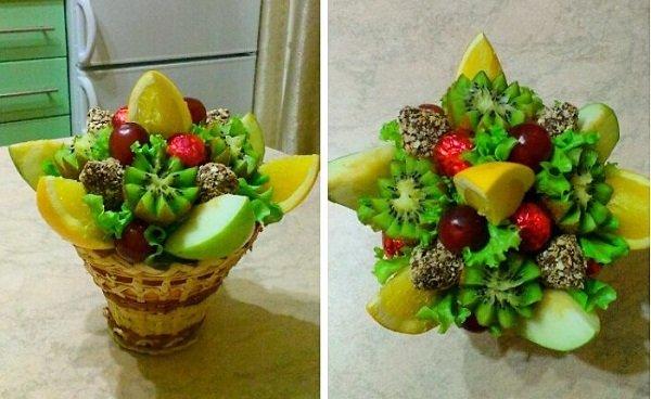Композиции из фруктов своими руками пошагово 122