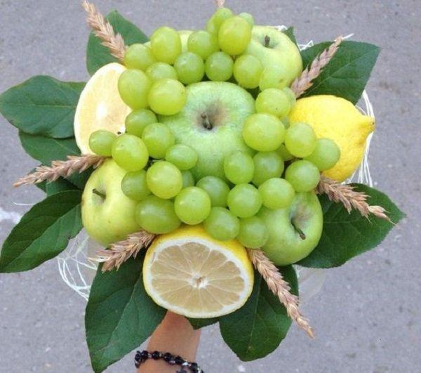 Цветы из фруктов своими руками